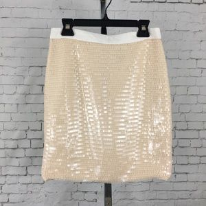 Cache size 4 sequins shiny mini skirt party H